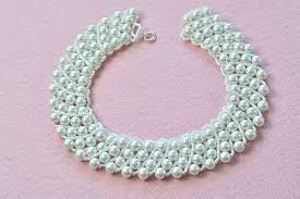 necklace making with pearl images Pearl jewelry design how to make a handmade white pearl bead jpg