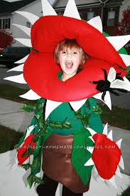 cool homemade venus fly trap costume for a boy halloween costume