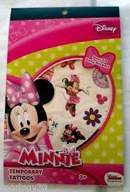 6 pieces disney junior minnie mouse bowtique temporary tattoos 50