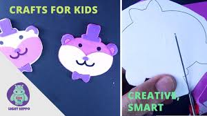 crafts for kids 1 making teddy bear bunny cut and paste for kids