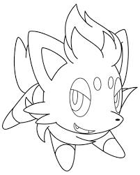 zorua pokemon coloring free printable coloring pages