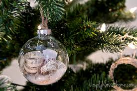 empty glass ornaments to fill handmade