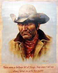 leanin u0027 tree 16 inches x 20 inches poster skp30047 cowboy by
