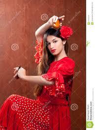 castanets gipsy flamenco dancer spain stock photo image