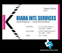 business card designing and printing services company in delhi india
