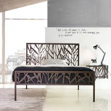 Italian Double Bed Designs Wood Metal Beds The Upholstered Panels On The Headboard And