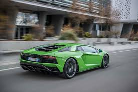 2018 lamborghini aventador s rear three quarter in motion 25