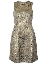 dorothy perkins vero moda gold peacock prom dress in metallic lyst