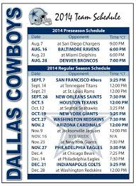 best 25 cowboys 2014 schedule ideas on cowboys