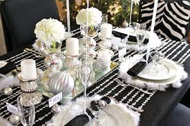 black and white table settings elegant christmas table decorations for 2016 easyday