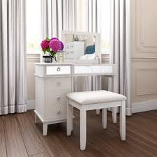 Vanity Makeup Desk With Mirror Makeup Tables And Vanities You U0027ll Love Wayfair