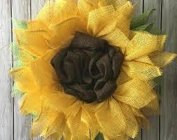 Sunflower Mesh Wreath Sunflower Wreath Etsy