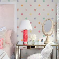 Pink Wallpaper For Walls by Polka Dot Wallpaper Peel And Stick