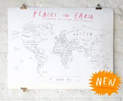 Cork World Map by Oliver Jeffers World Map With Cork Backing Get On My Wall
