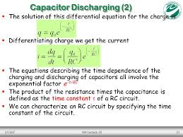 2 13 07184 lecture 2021 capacitor discharging 2 the solution of