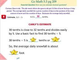 go math interactive mimio lesson 5 3 estimate quotients by cool corner