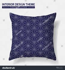 decorative throw pillow design template geometric stock vector