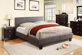 Queen Size Bed With Mattress Cm7008gy Winn Park Gray Finish Platform Queen Size Bed Frame
