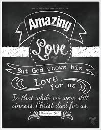 Christian Art Designs Scripture Chalkboard Art Romans 5 8