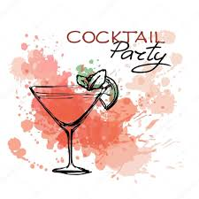 zur cocktail party poster u2014 stockvektor 85189526