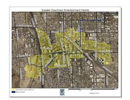Map Of Tucson Greater Downtown Entertainment District Official Website Of The