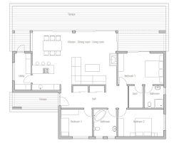 House Plans 3000 Sq Ft House Planning Pinoy House Plan Php 2015016 Floor Plan Simple