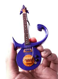 miniature guitar prince purple prince symbol signature 6 ornament
