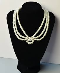 handmade bead necklace designs images Pearl jewelry design how to make a handmade three strand white jpg