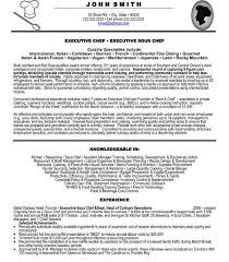Resume Sous Chef Chef Resume Example Sushi Anatomy Of A Chefs Cv Chef Resume 4