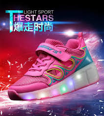 heelys light up shoes summer breathable child heelys mesh shoes sneakers with wheels girls