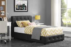 Upholstered Twin Beds Dhp Furniture Dakota Upholstered Bed