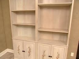 How To Finish Unfinished Cabinets Staining And Painting Unfinished Bookcases Hgtv