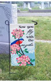 Monogram Garden Flag Memorial Garden Flags In Memory Garden Or Cemetery Flag