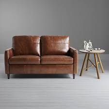 Aniline Leather Sofas Buy Lewis Dalston Semi Aniline Leather Small Sofa Earth