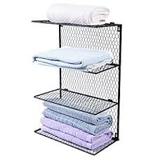 amazon com 4 tier wall mounted metal chicken wire mesh bathroom