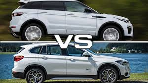 land rover bmw 2016 land rover range rover evoque vs 2016 bmw x1 youtube