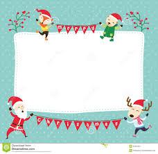 christmas christmas card template santa claus friends lights