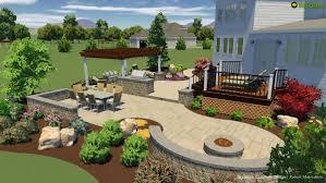 a patio and landscape design
