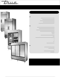 true manufacturing company refrigerator t 35 user guide