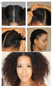 easy ethinic braid styles on natural hair natural haired girls can try this tight french braid idea 13