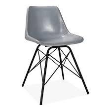 Esszimmer Stuhl Leder Dexter Esszimmerstuhl Aus Metall U0026 Leder Grau Industrielle Stühle