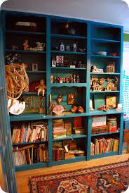 kids room modern kids furniture bookshelf with books blue wooden