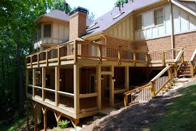 how to build a two story house make a signature statement with a two story deckleisure time decks