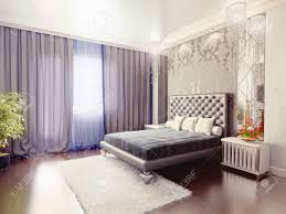 modern luxury bedroom interior 3d rendering stock photo picture