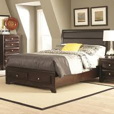 Upholstered Headboard Storage Bed by Jaxson Queen Bed With Upholstered Headboard And Storage Footboard