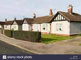 tudor bungalow mock tudor semi detached bungalow ipswich suffolk uk stock photo