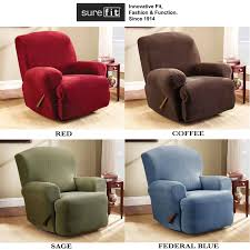 Qvc Recliner Covers Surefit Recliner Covers U0026 Sure Fit Waterproof Quilted Suede Wing