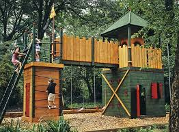 The  Best Backyard Playground Ideas On Pinterest Playground - Backyard fort designs