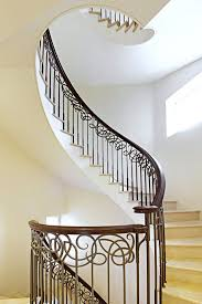 Helical Staircase Design Helical Staircase Stone Steps Metal Frame With Risers