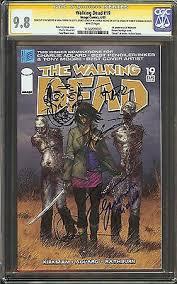 rare collectors comics the walking dead 19 cgc 98 signed sketch